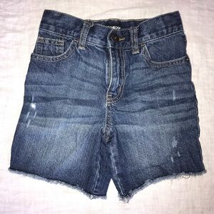 Girls distressed look jean shorts